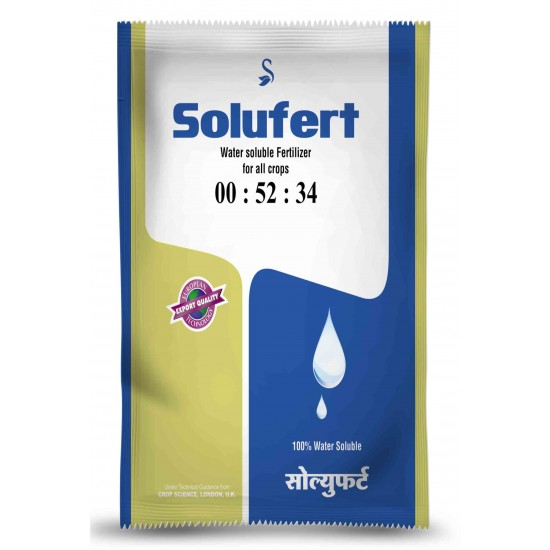 SOLUFERT - 00-52-34 (Mono Potassium Phosphate) MKP Water Soluble Fertiliser