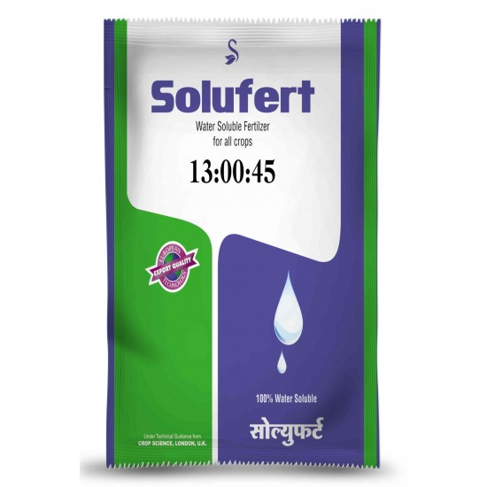 SOLUFERT - 13-00-45 (Potassium Nitrate ) Water Soluble Fertiliser