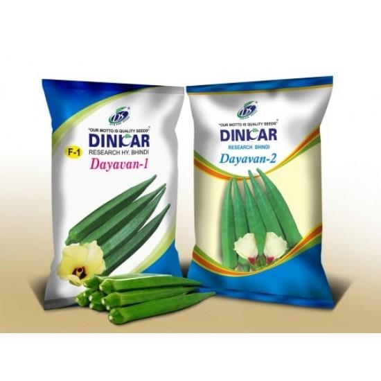 Dinkar Okra(Bhendi)Vegetable Seeds Dayavan-2 -250 GRM