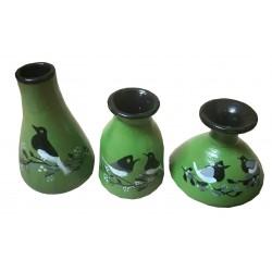 Three designer pots Handmade decorative item