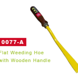 J.S.P-FLAT WEEDING HOE WITH WOODEN HANDLE