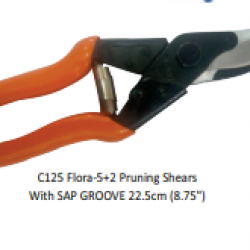 """C125 Flora-5+2 Pruning Shears With SAP GROOVE 22.5cm (8.75"""")"""
