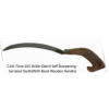 C141 Flora-101 Sickle (Datri) Self Sharpening - Serrated Teeth (With Bend Wooden Handle)