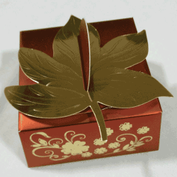 Handmade leaf style chocolate box