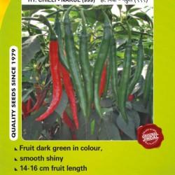 Jindal Chilli Hybrid Seeds(mirch Seeds)-Nakul (999)-10GM