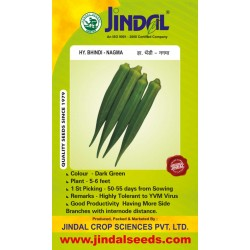 Jindal Hybrid Bhindi Seeds(Okra Seeds)-Nagma-50 GM