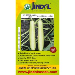 Jindal Bottle Gourd Hybrid (Lauki Seeds)-Amit-50GM
